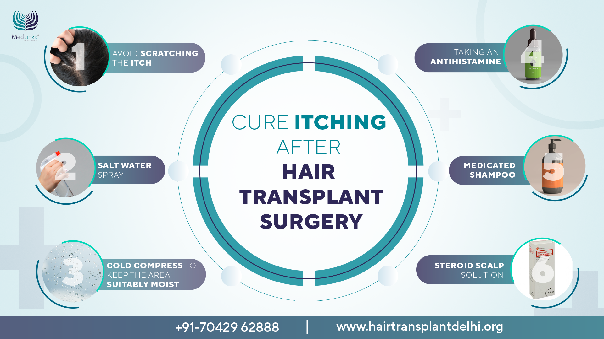 cure after hair transplant surgery